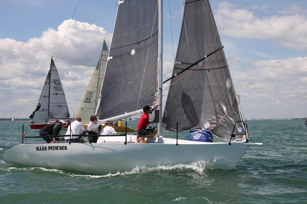 Illes Pitiuses in action in the Quarter Ton Cup 2014. (Pictures courtesy of www.fionabrown.com)