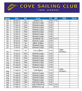 Dinghy Racing Calendar 2016